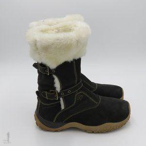 Salomon Lhasa Black Suede Winter Snow Boots